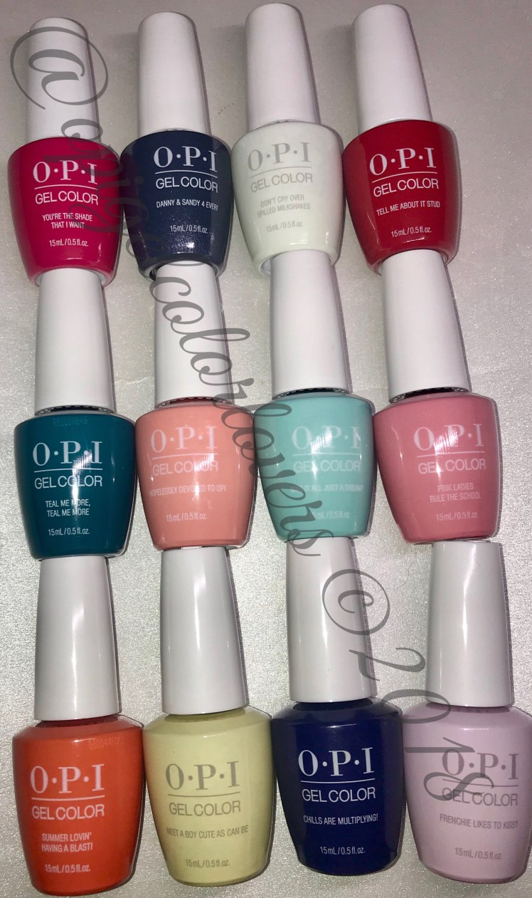 Grease Collection Summer 2018 Opi Gelcolor Lovers