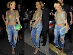 RIhanna in Holographic sky