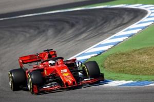 Sebastien Vettel dans son V6 sur le circuit du GP d'Allemagne