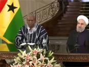 Iran's Opperste Leider Khamenei en president Mahama van Ghana