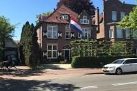 Eenzame Nederlandse vlag op Bevrijdingsdag 2018 te Leiden