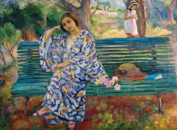 Henri Lebasque | Auf der grünen Bank - On the Green Bench | museum Albertina, Wenen