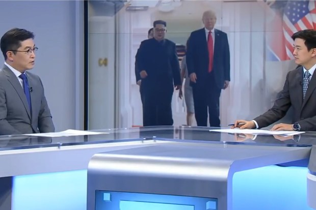 Zuid-Koreaanse televisie over de ontmoeting Trump - Kim Jong-un
