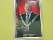 Staatsieportret van president Desi Bouterse van Suriname