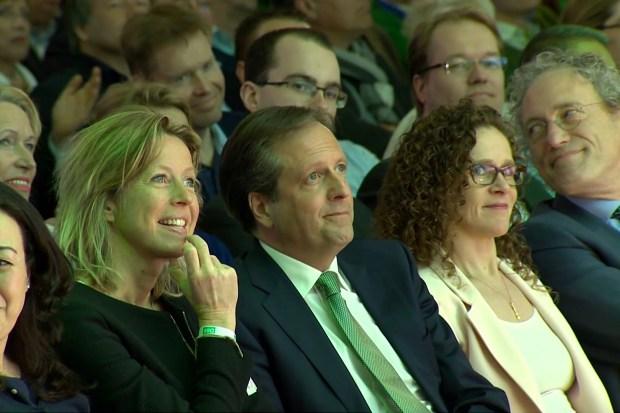 D66-coryfeeën op Congres 103 (2016), uiterst rechts Thom de Graaf.