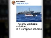 aankondigingsvideo Donald Tusk van EU-Migratietop 28 en 29 juni 2018