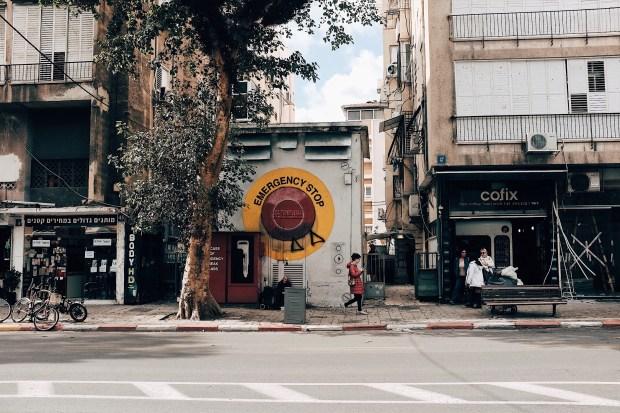 Straatbeeld Tel Aviv, Israël