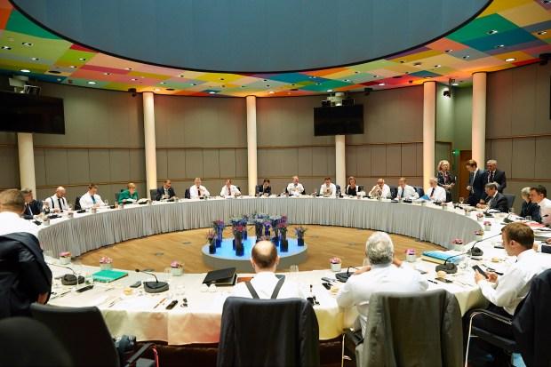 Werkdiner EU-raad over migratie (28 juni 2018).