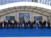 Familiefoto regeringsleiders NATO (11 juli 2018 te Brussel).