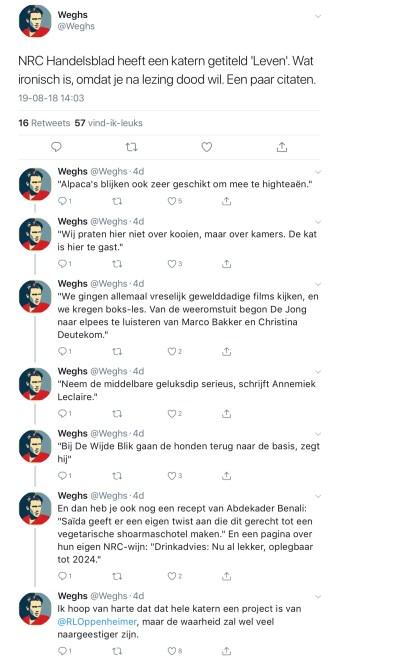 Twitter-draad Jeroen Weghs