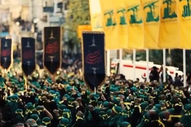 Militaire parade Hezbollah, Libanon