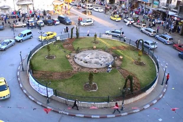 Straatbeeld Nablus, West Bank