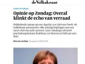 Opinieartikel DJ van Baar in de Volkskrant.