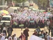 Demonstratie in Gaza tegen bezuinigingen VS op budget UNRWA