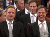 Vice-premier Hugo de Jonge en premier Mark Rutte op Prinsjesdag 2018
