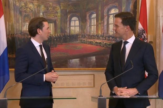 Premier Rutte op bezoek bij zijn Oostenrijkse collega Kurz (1 januari 2018)
