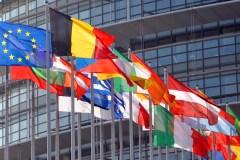 Vlaggen EU-lidstaten in Brussel