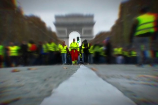 Demonstratie Gilets Jaunes in Parijs