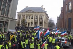 demonstratie Gele Hesjes in Den Haag
