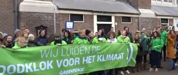 demonstratie Greenpeace voor het klimaat (1 december 2018).