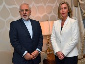 Mohammed Javad Zarif, minister van Buitenlandse Zaken en EU-Hoge Vertegenwoordiger Federica Mogherini.