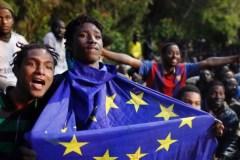 Illegale Afrikaanse migranten in Spanje
