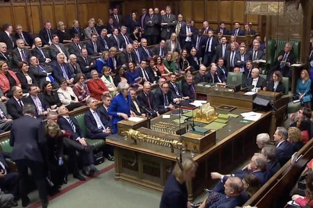 Theresa May na het verwerpen van de Labour-motie van wantrouwen (16 januari 2018)