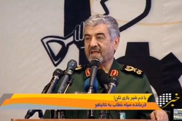 Generaal Jafari van de Iraanse Revolutionaire Garde in reactie op Israëlische luchtaanvallen op Iraanse troepen in Syrië (21 januari 2019)