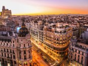 Stadsgezicht Madrid, Spanje.