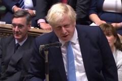 """Titelfoto bij artikel George van Bergen op OpinieZ.com """"Parlement slaat Boris Johnson wapens uit handen"""""""