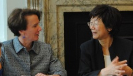 Professor Sarah Cleveland, Columbia Law School, and Professor Ling Yan, China University of Political Science and Law, at the first meeting of the International Law Programme's global experts network at Chatham House in April 2014. Photo used with permission from Chatham House.