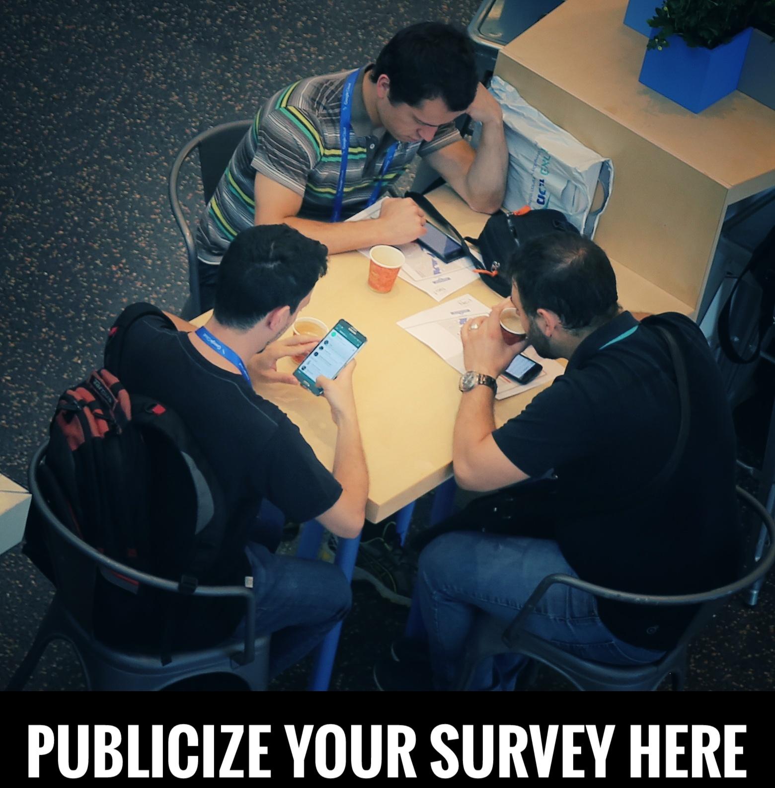Publicize your survey here