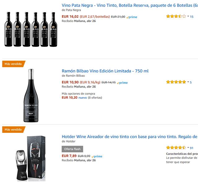 comprar en la web de vinos online amazon