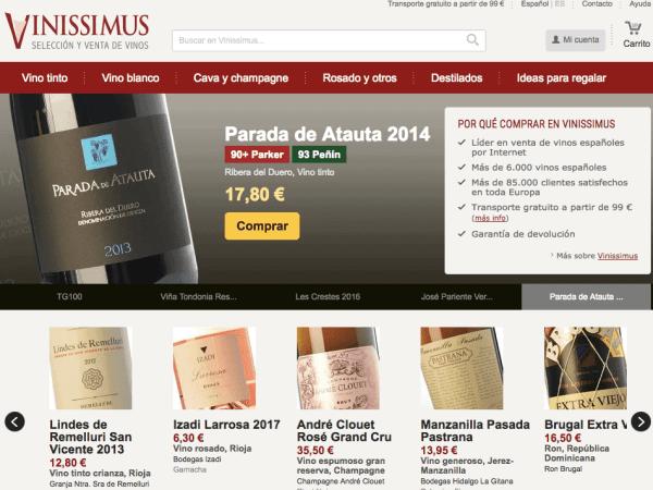 web vino vinissimus