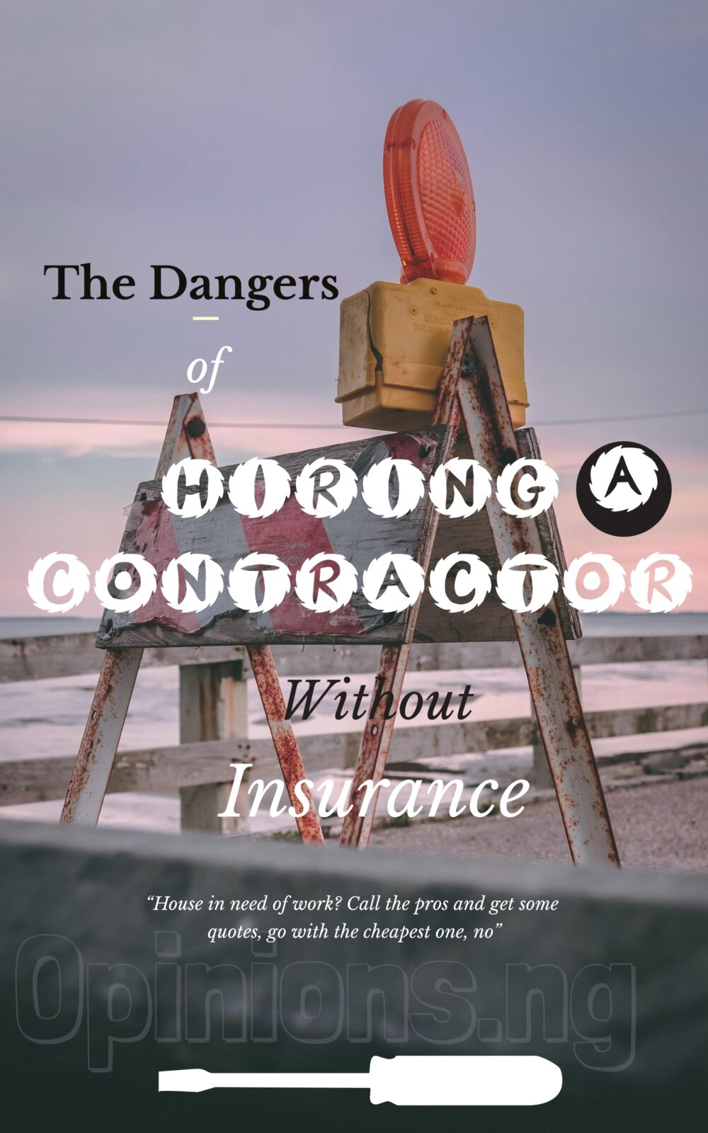 hiring a contractor without insurance