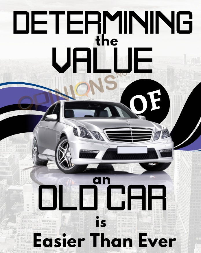 determining the value of old car - Made with PosterMyWall