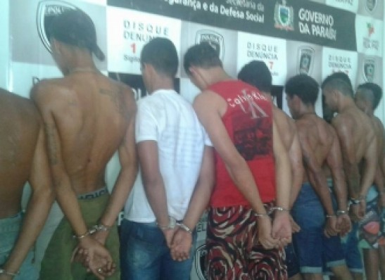 presos Polícia detém 8 suspeitos de dupla tentativa de homicídio em Monteiro