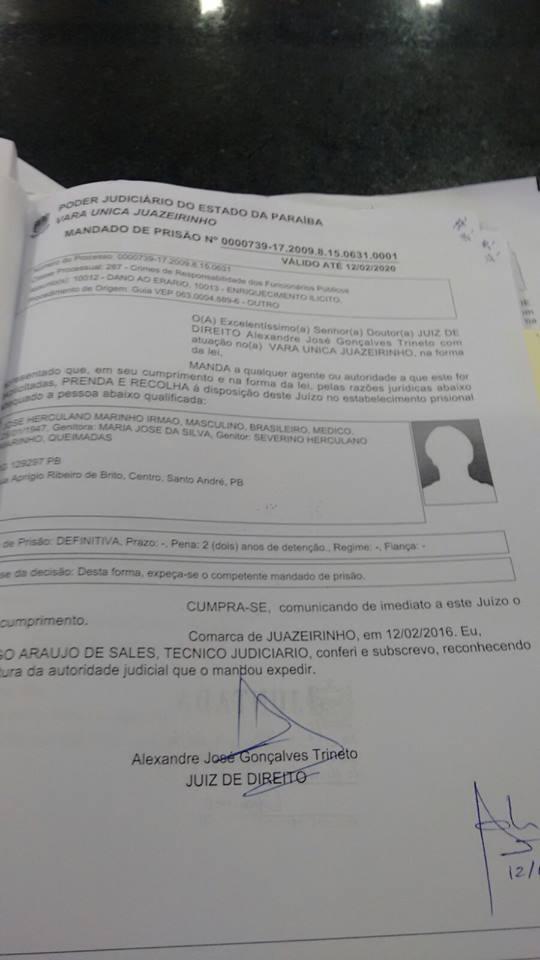 10569175_835565993233501_354259073_n Justiça decreta prisão de ex-prefeito do Cariri paraibano por dois anos