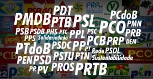 partidos1-300x156 Janela para troca de partido se fecha nesta sexta-feira; políticos deixam filiações para última hora
