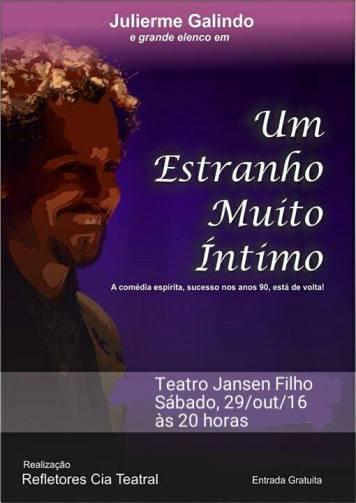 """14695366_1261978277178109_2108089669433271885_n Peça """"Um Estranho Muito Intimo"""" será apresentada neste Sábado em Monteiro."""