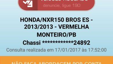 Moto roubada é recuperada pela Polícia em Monteiro 3