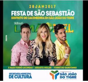 sjt São João do Tigre realiza festa do Padroeiro do distrito de Cacimbinha neste sábado com a Banda Limão com Mel