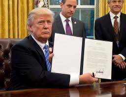 trump Trump assina nesta quarta decreto para construir o muro com México