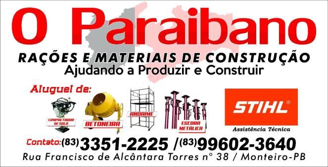 o-paraibano Melhor Preço é no Paraibano Depósito de Rações e Material de Construção em Monteiro