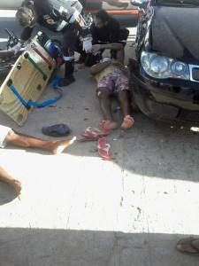 Colisão entre carro e moto deixa duas pessoas feridas em Monteiro 1