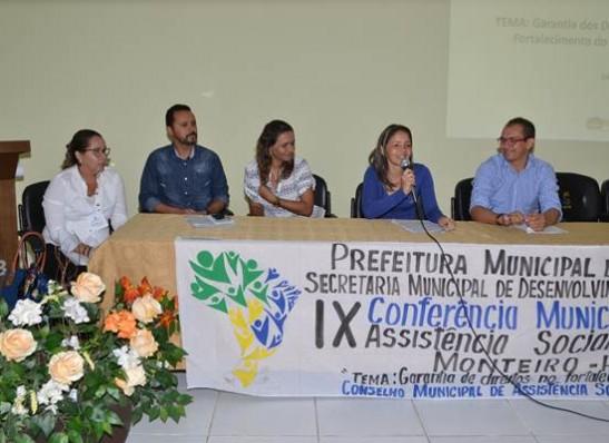 Monteiro realiza IX Conferência Municipal de Assistência Social 1