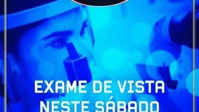 Neste sábado haverá exame de vista na Ótica Nossa Senhora Das Dores em Monteiro: 18