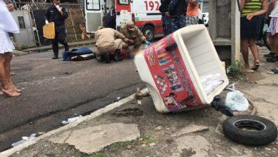 Sorveteiro é atropelado por ônibus quando homem atravessava rua, no Centro de João Pessoa 7