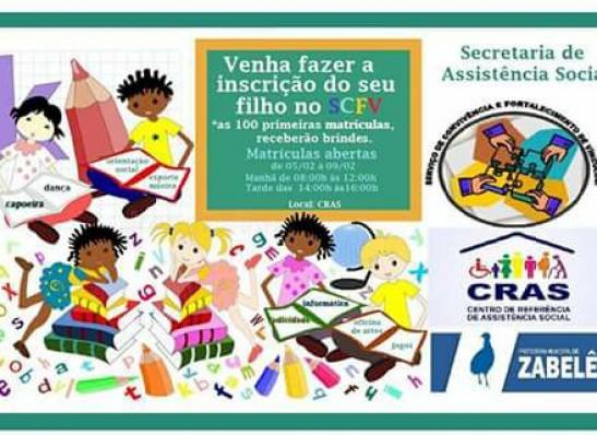 timthumb-15 Secretária de Assistência Social de Zabelê realizará matrículas para o SCFV