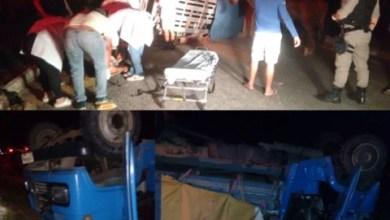 Caminhão boiadeiro tomba e deixa várias pessoas feridas na estrada que liga Sumé ao Congo 2